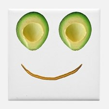Cute Avocado Face Rieko's Fave Tile Coaster