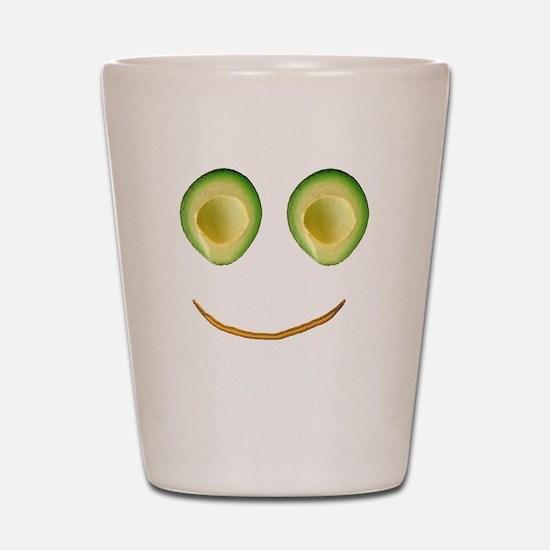 Cute Avocado Face Rieko's Fave Shot Glass