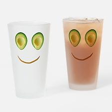 Cute Avocado Face Rieko's Fave Drinking Glass