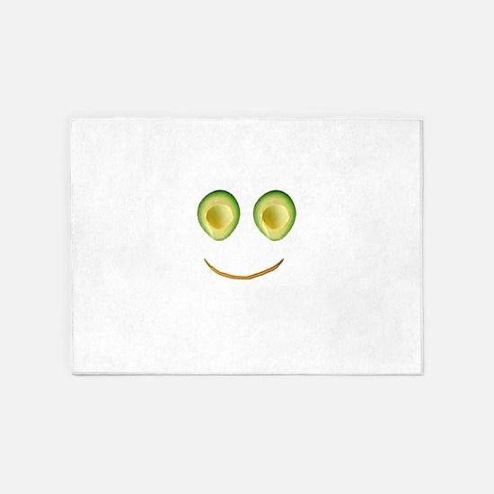 Cute Avocado Face Rieko's Fave 5'x7'Area Rug