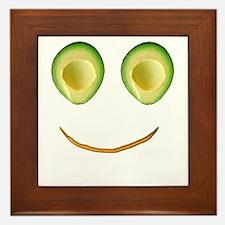 Cute Avocado Face Rieko's Fave Framed Tile