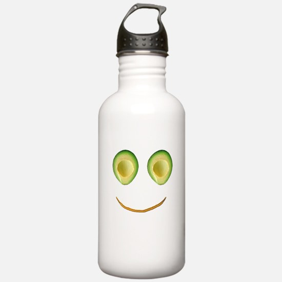 Cute Avocado Face Riek Water Bottle