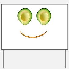 Cute Avocado Face Rieko's Fave Yard Sign