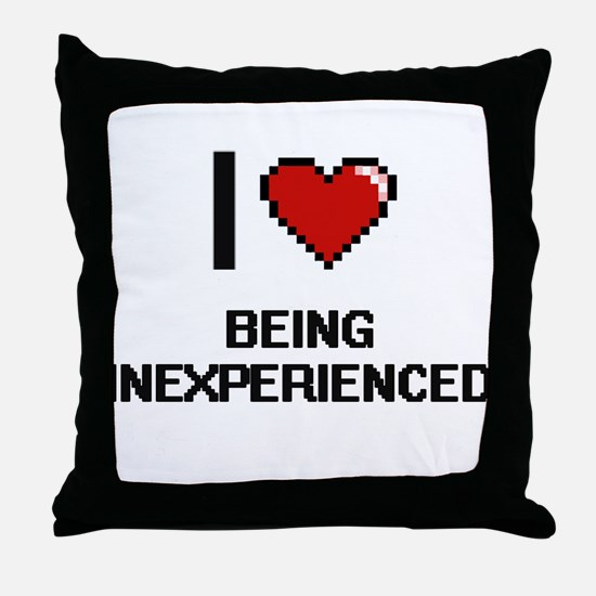 I Love Being Inexperienced Digitial D Throw Pillow