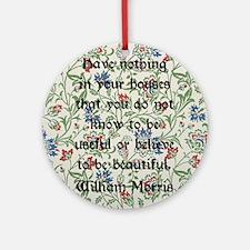 William Morris Quote Round Ornament
