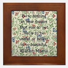 William Morris Quote Framed Tile