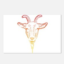 sunrise goat Postcards (Package of 8)