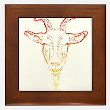sunrise goat Framed Tile