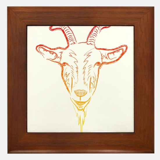 sunrise goat Framed Tile