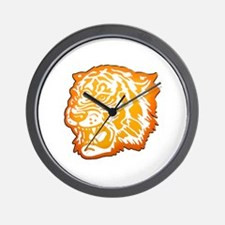 TIGER Orange Yellow Design! Wall Clock