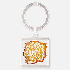 TIGER Orange Yellow Design! Square Keychain