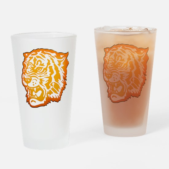 TIGER Orange Yellow Design! Drinking Glass