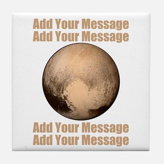 PERSONALIZED Pluto Tile Coaster
