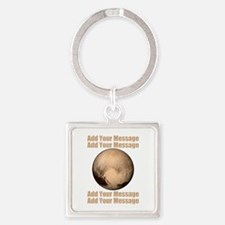 PERSONALIZED Pluto Square Keychain