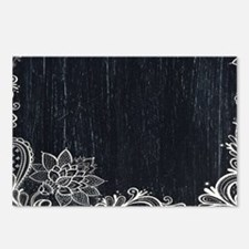 white lace black chalkboa Postcards (Package of 8)