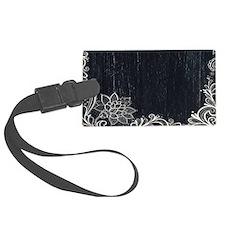 white lace black chalkboard Luggage Tag