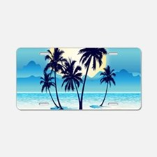 Tropical Aluminum License Plate