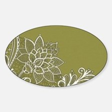 girly lace sage green Decal