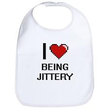 I Love Being Jittery Digitial Design Bib