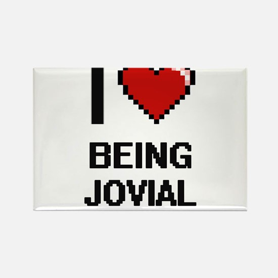I Love Being Jovial Digitial Design Magnets