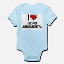 I Love Being Judgmental Digitial Design Body Suit