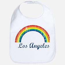 Los Angeles (vintage rainbow) Bib