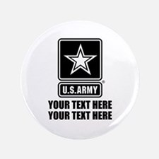 CUSTOM TEXT U.S. Army Button