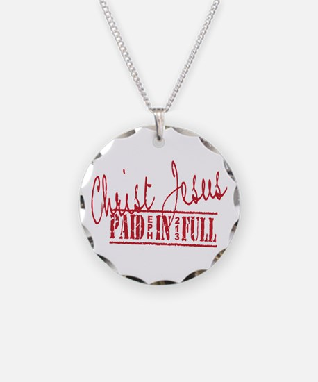 Paid in Full Necklace Circle Charm