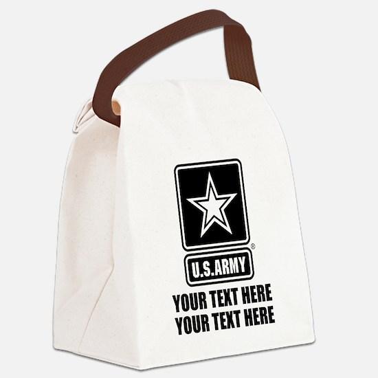 CUSTOM TEXT U.S. Army Canvas Lunch Bag