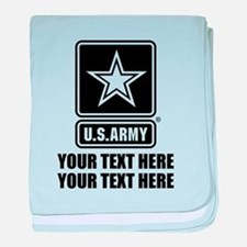 CUSTOM TEXT U.S. Army baby blanket