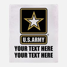 CUSTOM TEXT U.S. Army Throw Blanket