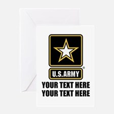 CUSTOM TEXT U.S. Army Greeting Card