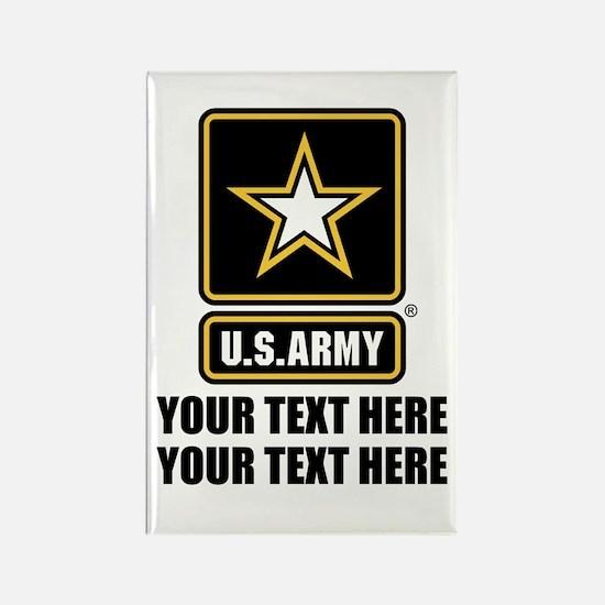 CUSTOM TEXT U.S. Army Rectangle Magnet