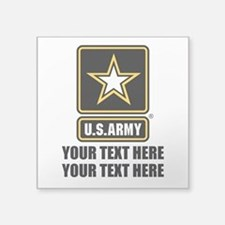 CUSTOM TEXT U.S. Army Square Sticker 3