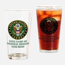 CUSTOM TEXT U.S. Army Drinking Glass