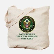 CUSTOM TEXT U.S. Army Tote Bag