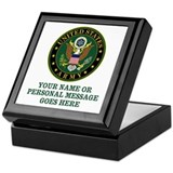 Usarmy Square Keepsake Boxes