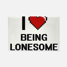 I Love Being Lonesome Digitial Design Magnets