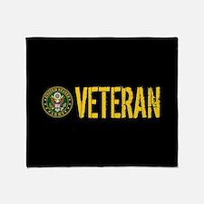 U.S. Army: Veteran Throw Blanket