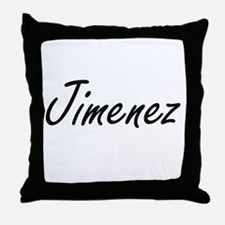 Jimenez surname artistic design Throw Pillow
