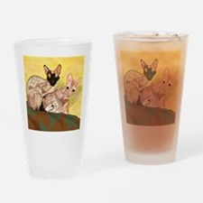Tiger and George - the Cornish Rex  Drinking Glass