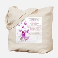 Pink Ribbon, the Fight Tote Bag