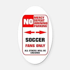no parking soccer Oval Car Magnet