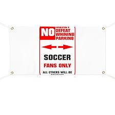 no parking soccer Banner