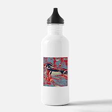 wild lake wood duck Water Bottle
