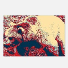 mountain wildlife grizzly Postcards (Package of 8)