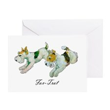 Fox Trot Terriers Greeting Card