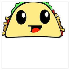 Cute Kawaii Taco Poster