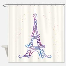 Watercolor Flowers Shower Curtain
