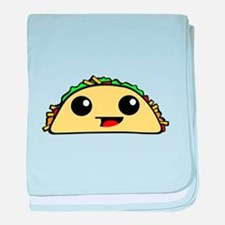 Cute Kawaii Taco baby blanket